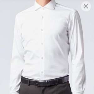 Authentic Hugo Boss white dress shirt